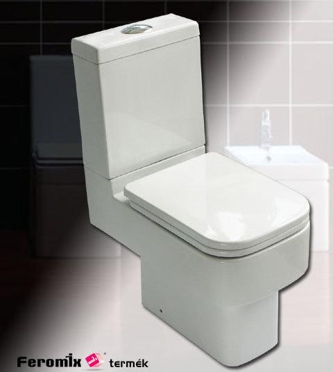 Feromix Riva hátsó kifolyású monoblokkos WC csésze R-C348P/K