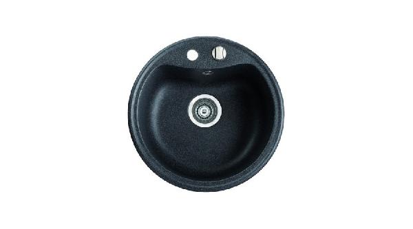 Marmorin Isao gránit mosogató kerek 500x500x205 mm + csaptelep Akciós szett