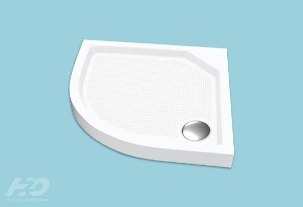 H2O Zeno 90x90 íves/szögletes zuhanytálca  szifonnal