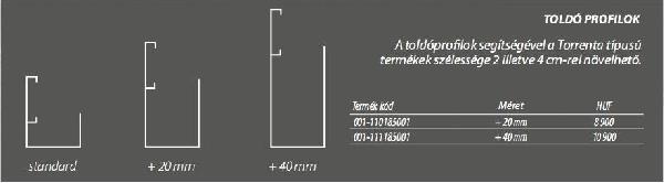 Radaway Torrenta Toldó profil +2 cm-rel növelhető