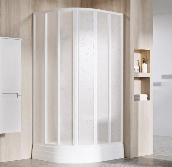 Ravak Supernova SKKP6 90x90 negyedköríves zuhanykabin toló ajtóval, transparent biztonsági üveggel