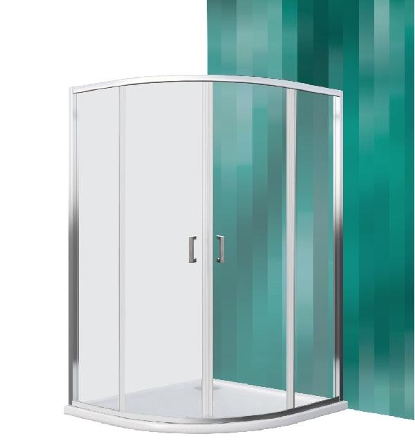 Roltechnik LEGA LINE íves zuhanykabin, kétrészes tolóajtóval (LLR2/900)
