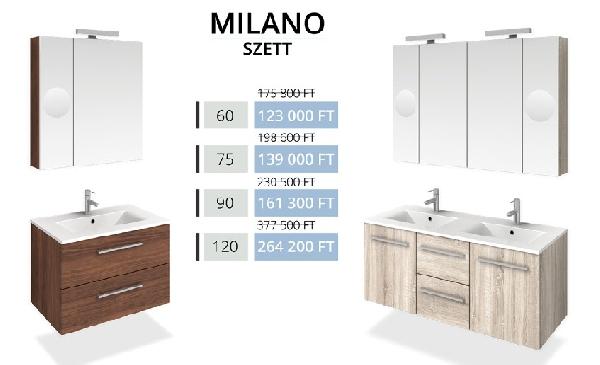 Tboss Akciós MILANO SZETT 90 fürdőszobabútor