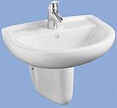 Alföldi Bázis mosdó 55 cm fúrt, fehér 4191 55 01