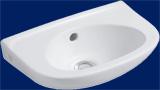 Alföldi Bázis mosdó 40 cm jobb vagy bal oldali furattal, fehér 4123 4x xx