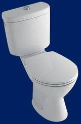 Alföldi Solinar mélyöblítésű monoblokkos WC, hátsó kifolyású fehér 6003 19 xx