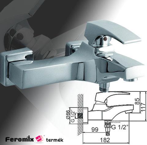Feromix Grande kád csaptelep zuhanycsatlakozóval, szett nélkül 130215.1