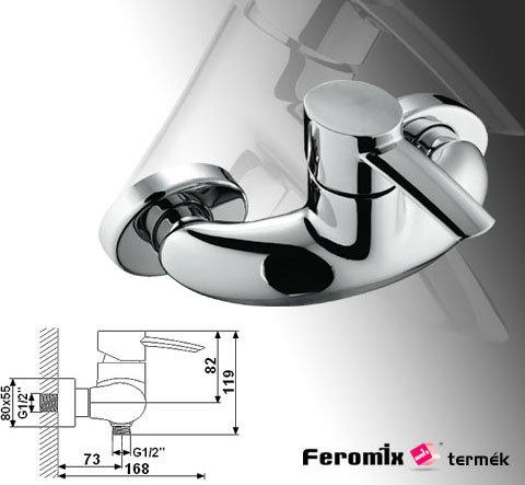 Feromix Adesso zuhany csaptelep 150100.1 - Kifutó termék, a készlet erejéig