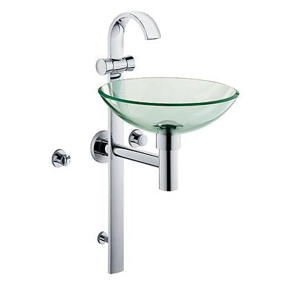 Kludi Joop! oszlopos mosdó csaptelep + üveg mosdó 55115D1