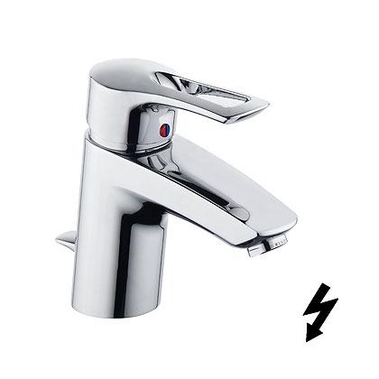 Kludi MX egykaros mosdó csaptelep automata leeresztővel, nyílt rendszerű elektromos vízmelegítőhöz 331350562