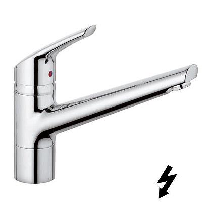 Kludi Objekta Mix New álló egykaros mosogatócsaptelep, nyílt rendszerű elektromos vízmelegítőhöz 338890575