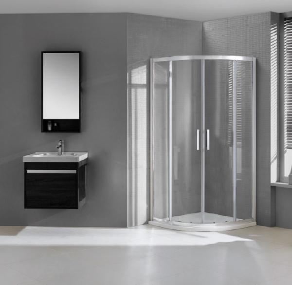 Wellis Aquarius 90x90x190cm két tolóajtós íves zuhanykabin