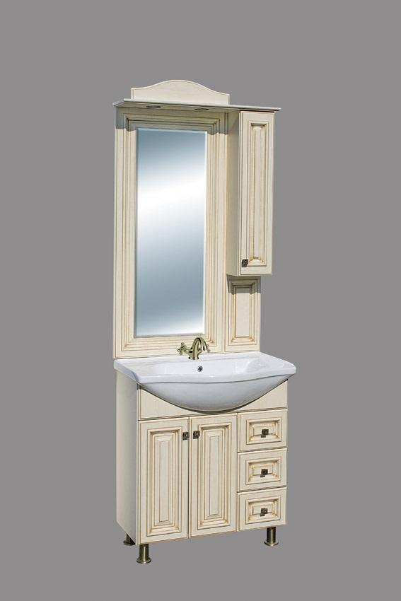 Guido BAROKK 76 fürdőszoba bútor, komplett - ANTIK VANÍLIA