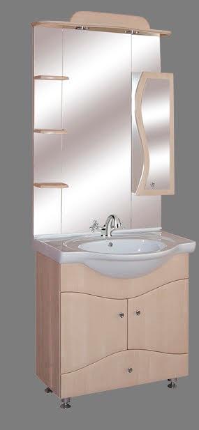 """Guido """"S75"""" modell porcelánkagylós fürdőszoba bútor, komplett - több színben rendelhető"""
