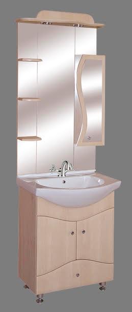 """Guido """"S65"""" modell porcelánkagylós fürdőszoba bútor, komplett - több színben rendelhető"""