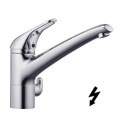 Kludi Komet Egykaros, többfunkciós mosogatócsaptelep, csatlakozó mosó- vagy mosogatógép számára, nyílt rendszerű elektromos vízmelegítőhöz 337970562