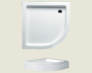 Riho akril zuhanytálca 210 90x90 íves előlappal lábbal DA19