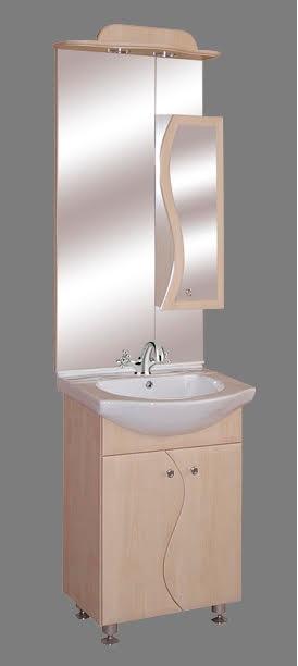 """Guido """"S55"""" modell porcelánkagylós fürdőszoba bútor, komplett - több színben rendelhető"""