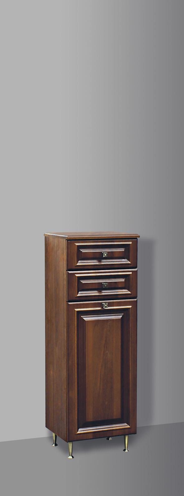 Guido BAROKK 1012 félmagas 2 fiókos, szennyes kosaras fürdőszoba bútor