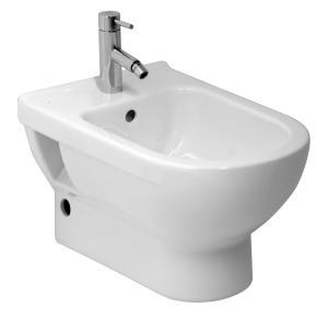 Jika Cunito fali bidé nyitott csaplyukkal, lyuk nélkül a hátsó vízbevezetéshez 831422
