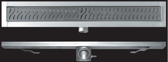 Zuhanyfolyóka alaptest kettős bűzzárral, magasság: 80 mm  Méret :680mm