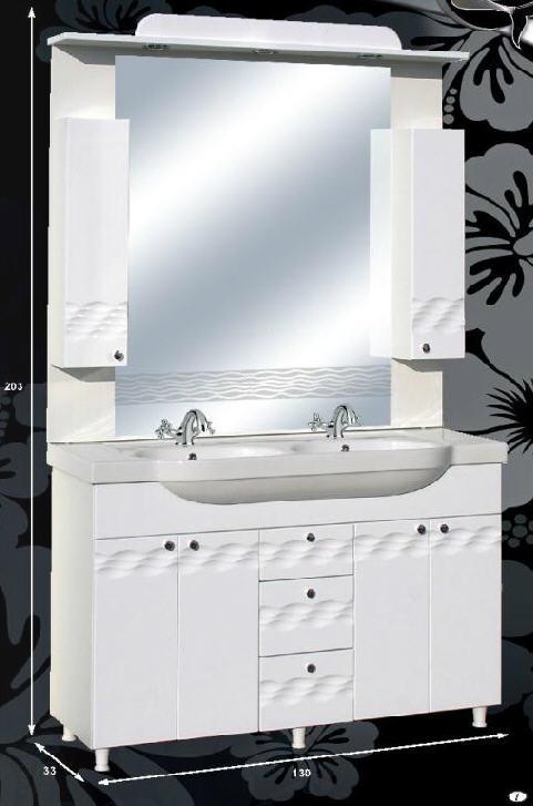"""Guido PORCELÁN """"ÓCEÁN 130"""" fürdőszoba bútor, komplett - több színben rendelhető"""