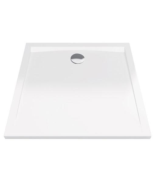 Excellent Forma akril 90x90x4cm szögletes fehér zuhanytálca - alacsony
