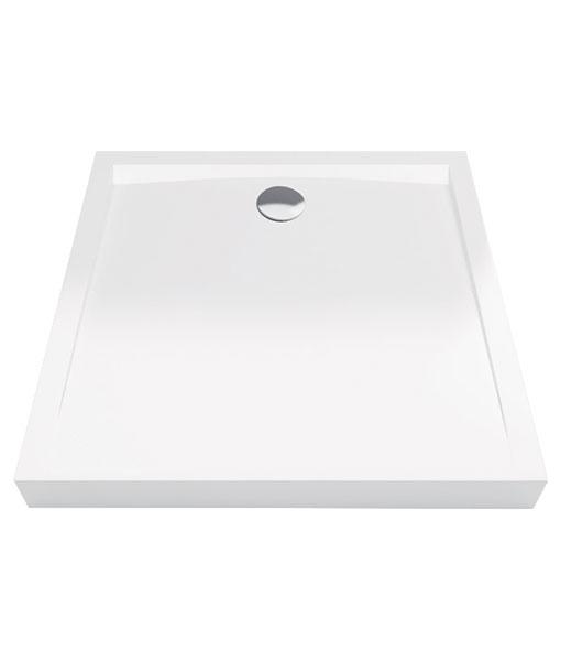 Excellent Forma Compact akril 100x100x11cm szögletes fehér zuhanytálca - magas