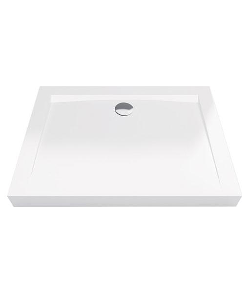 Excellent Forma Compact akril 80x120x11cm téglalap fehér zuhanytálca - magas