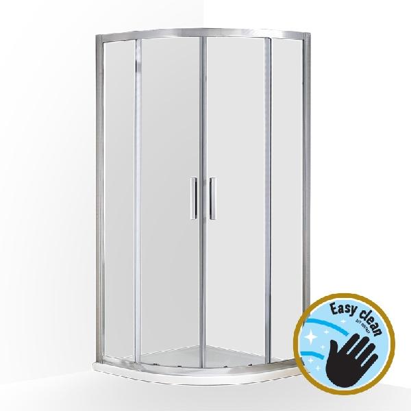 Wellis Aquarius 80x80x190cm két tolóajtós íves zuhanykabin