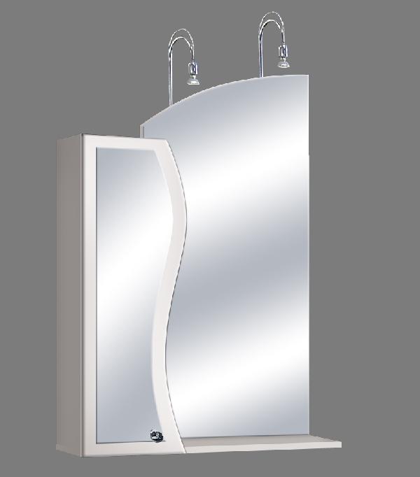 """Guido """"S modell"""" 1015 felső fürdőszoba bútor, íves tükörrel - több színben rendelhető"""