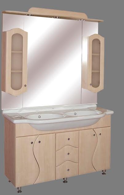 """Guido """"S130"""" modell porcelánkagylós fürdőszoba bútor, komplett - több színben rendelhető"""