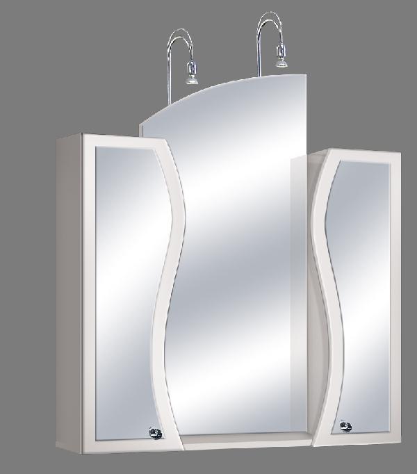 """Guido """"S modell"""" 1015 felső fürdőszoba bútor, középen íves tükörrel - több színben rendelhető"""