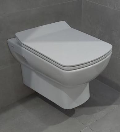 Feromix Quadro  fali WC csésze tető nélkül QF-C201WH