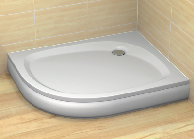Radaway Patmos E 80x100 aszimmetrikus akril zuhanytálca lábbal és szifonnal, előlappal