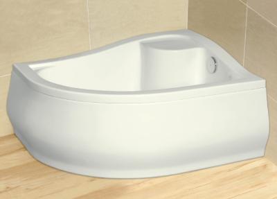 Radaway Korfu E 80x100 aszimmetrikus íves magas akril zuhanytálca, lábbal, szifonnal, előlappal