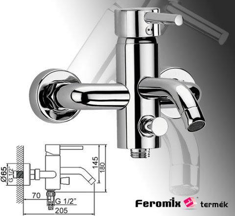Feromix Mini-Art kád csaptelep zuhanycsatlakozóval, szett nélkül 310215.1