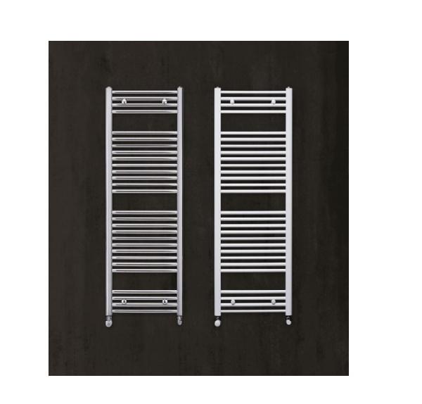 Zehnder Aura 800x500 íves, króm törölközőszárító radiátor
