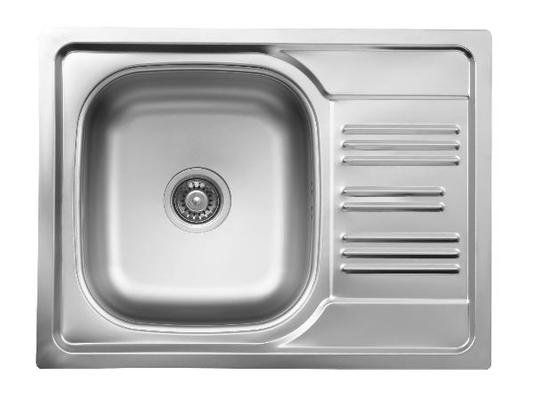 Deante XYLO rozsdamentes mosogató 1 medence + csepegtető 580x435x160mm