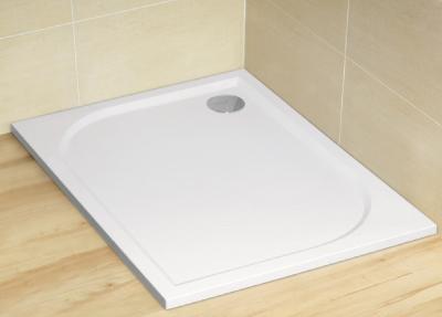 Radaway Paros D 80x100 aszimmetrikus műmárvány zuhanytálca, szifonnal, lábbal