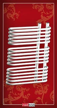 A3/G RADECO Fehér Design csőradiátor