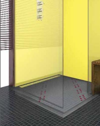 ACO Zuhanypadló panel beépített zuhanyfolyókával 80*120