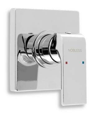 Novaservis Nobless Sharp falba építhető zuhanycsaptelep, króm 37050,0