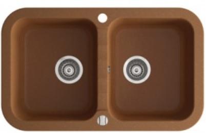 Marmorin Ignis gránit mosogató szögletes 2 medencés 770 x 470 x 197 mm