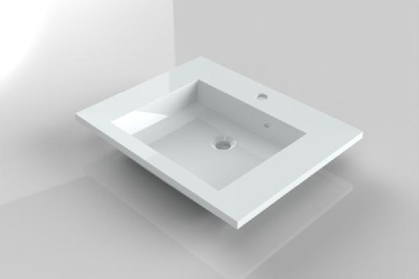 RIHO Broni centrális öntött márványmosdó 60x48