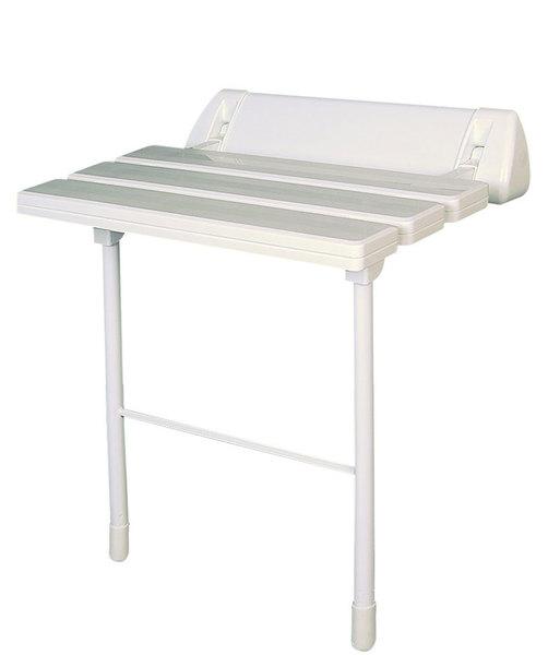 Ülőke zuhanyzóba, összecsukható, fehér (A0020301)