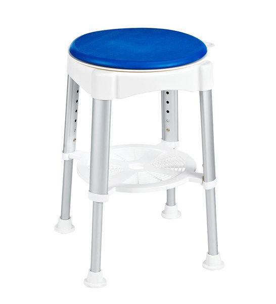 RIDDER Forgó szék, állítható magasság, fehér/kék, teherbírás 150kg (A0050401)