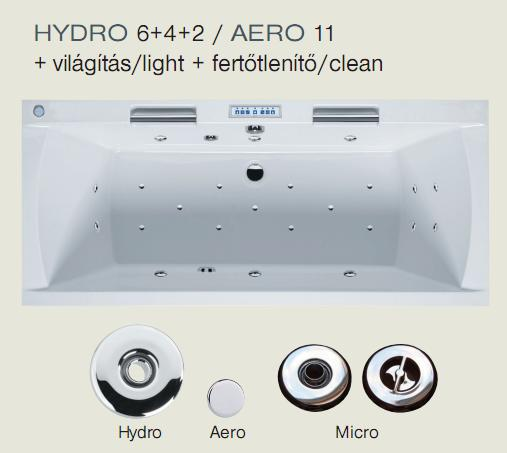 Pro HYDRO 6+4+2 / AERO 11  rendszer + világítás + fertőtlenítő