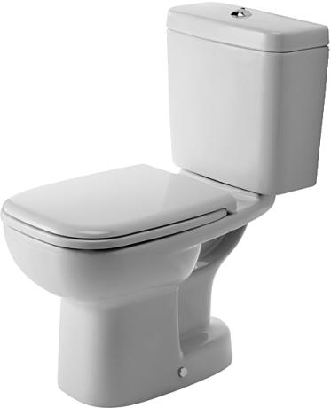 Duravit D-Code álló monoblokkos WC,mélyöblítésű, alsó kifolyású 211101 00 002