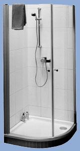Alföldi Liner 100 x 100 cm, íves zuhanykabin